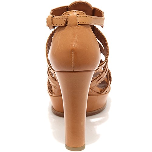 85867 sandalo TOD'S SAND PLAT CUOIO scarpa donna shoes women Cuoio
