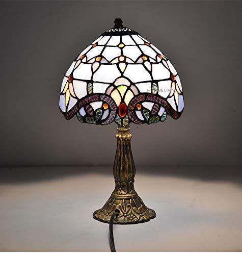 Lampe de table Lampe de chevet baroque européenne classique en verre teinté européen E27 110-240V