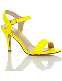 Femmes haute talon boucle fête élégant à lanières sandales chaussures pointure