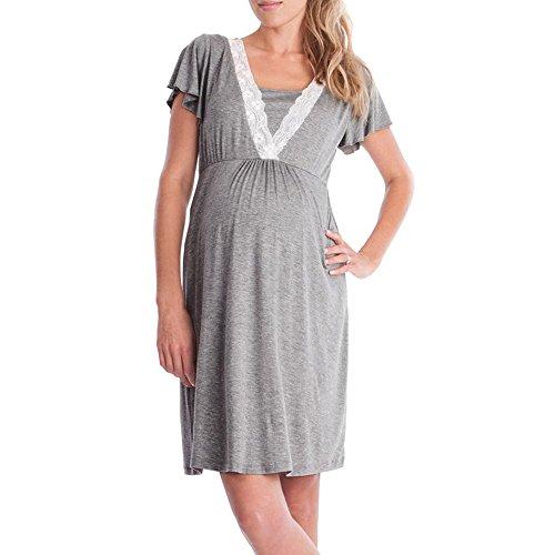 Gusspower Vestido de Lactancia Maternidad de Noche