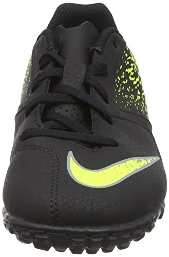 Nike Jr Bombax Tf, Scarpe da Calcio Bambino Nero (Black/Cool Grey/Volt)