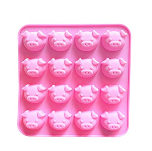 Schwein Form Muster Silikon EIS Kuchenform Fondant Zucker Jelly Praline Backen Handwerk DIY Form - Rosa ()