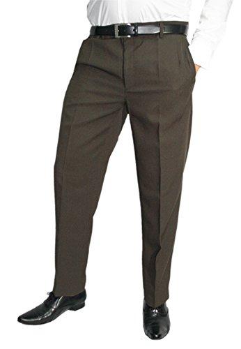 Mens Fashion Pantaloni eleganti con piega, da uomo, disponibili in diversi colori, taglie normali e forti Dunkelbraun