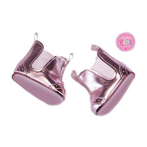 Schildkröt 651401038 - Kids Schuhe Metallic Pink, bis 36 cm - Schuhe Puppe