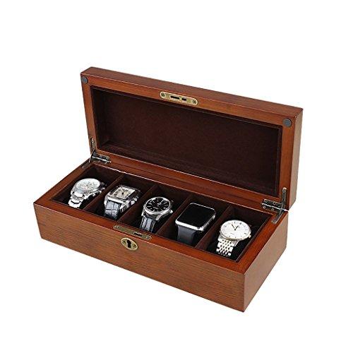 SH-snh Holz Uhrenbox, Display-Ständer/Box Set/Aufbewahrungsbox für Schmuck Uhren, Armband Collection Box 5 Grids Watch Display Box