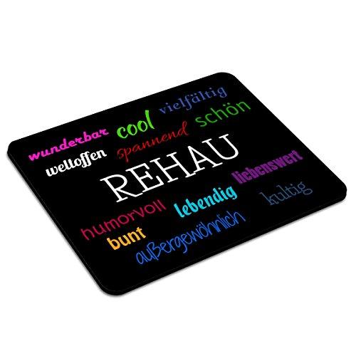 Preisvergleich Produktbild Mousepad Rehau personalisiert - Motiv Positive Eigenschaften - Städtemousepad, personalisiertes Mauspad, Gaming-Pad, Maus-Unterlage, Mausmatte