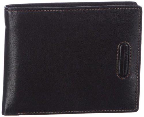 M-Collection Merlin Portemonnaie (QF) 4900000295, Unisex-Erwachsene Geldbörsen 12x10x1 cm (B x H x T) Schwarz (Black 900)