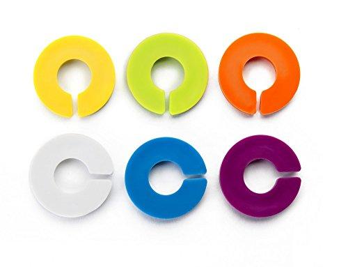 IBILI Glasmarkierer-Set, Kunststoff, Mehrfarbig 15 x 8 x 1 cm, 6-Einheiten