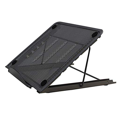 AUTOECHO Lapdesks Support pour Ordinateur Portable Ergonomique et ventilé avec Support pour Laptop Tablette IPad, MacBook Support pour Ordinateur Portable, Noir, 24 * 19 * 1.5CM