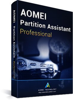 AOMEI Partition Assistant Professional 7.5.1 + Kostenlose Updates auf Lebenszeit + CD-ROM