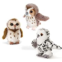 Plush & Company 15856 Company Forest Booby Owls Plush Toy, 20 cm, Multi-Color