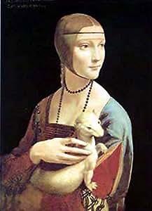 Posters: Leonardo Da Vinci Poster Reproduction - La Dame à L'hermine I (50 x 35 cm)