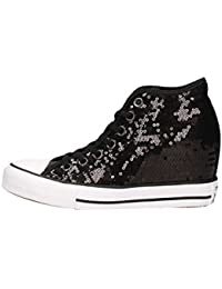 SNEAKER DONNA CONVERSE ZEPPA INTERENA ALL STAR HI COLORE PAILETTES NERA