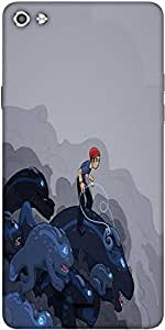 Snoogg Boy Riding The Bull 2596 Designer Protective Back Case Cover For Micromax Canvas Silver 5 Q450
