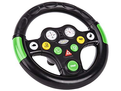 BIG 800056488 - Bobby cars, Zubehör Traktorensounds Wheel, schwarz, grün