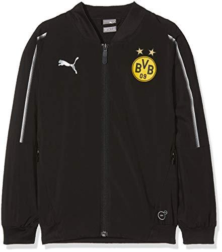 PUMA Kinder BVB Leisure Jacket Jr Without Sponsor Logo with 2 Side pocke Jacke, Black, 152 Jacken Fan