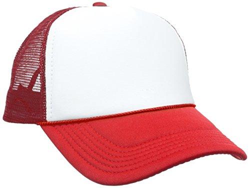 MSTRDS Herren Baseball Cap Trucker High Profile, Mehrfarbig (Red/White 1023,1821), One size White Hats