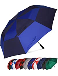 Eono Essentials - Parapluie de Golf Portable à Double voilure et Ouverture Automatique, Protection Contre Le Vent, Grand Format, 62 inch