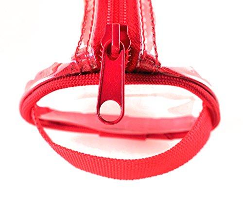 ROUGH ENOUGH, Borsetta da polso donna camouflage Camo Piping small, Red (rosso) - RE8335 Red