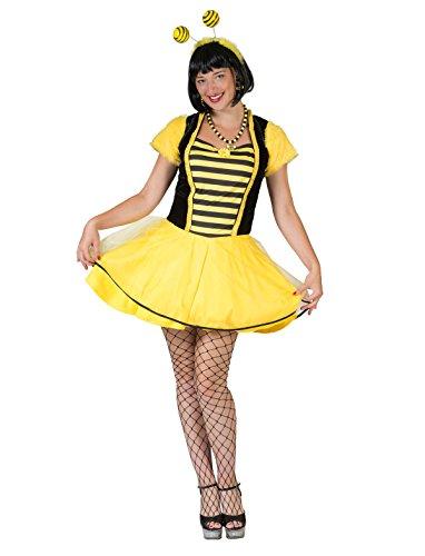 Kostüm Kleid Biene Sumsel Größe 40/42 Damen Schwarz Gelb Gestreift Tierkostüm Bienenkostüm Insekten Karneval Fasching Pierro\'s