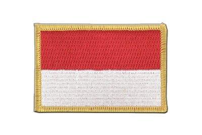 Indonesien Aufnäher, indonesische Flagge 6x8cm, MaxFlags® -