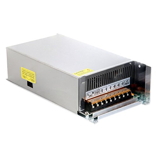 Alaojie Schalter Netzteil DC 12 V 60A 720 Watt Metallgehäuse Spannungswandler für Led-Streifen Licht 60a Netzteil