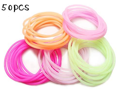 Mehrfarbige Neon Silikon Jelly Gummie Armbänder,Helle Shag Bands -
