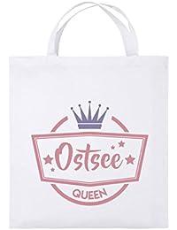 f1b8934d3c4ee Comedy Bags - Ostsee Oueen - Krone - Jutebeutel Bedruckt