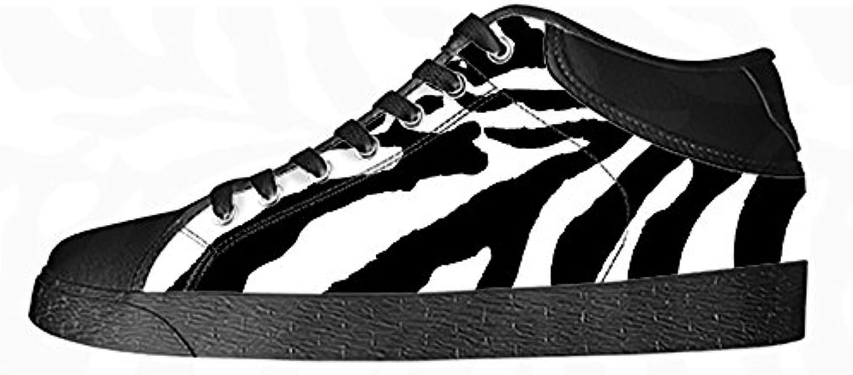 Custom zebra di stampa Men's Canvas scarpe I lacci delle scarpe in Alto sopra le scarpe da ginnastica di scarpe... | Cheapest  | Uomo/Donne Scarpa