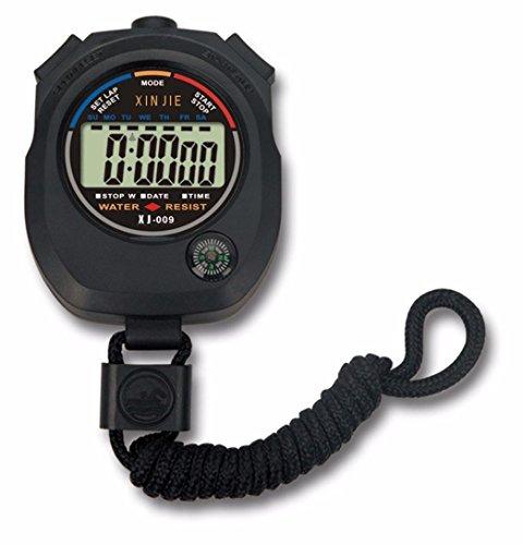 Resistente al agua Digital LCD temporizador cronómetro cronógrafo co
