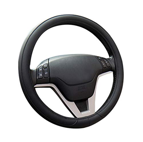 SCJ Auto-Lederlenkradabdeckung, Mikrofaserleder Vier Jahreszeiten Universal/Atmungsaktiv...