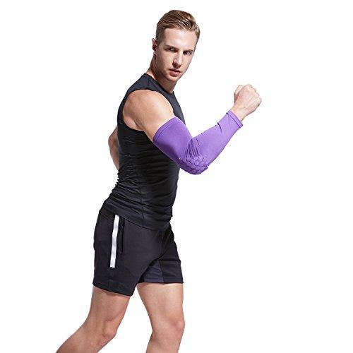 Veni Masee Armmanschette mit Ellenbogenpolster für Sport zum Schutz / Unterstützung, 1 Stück Violett - violett