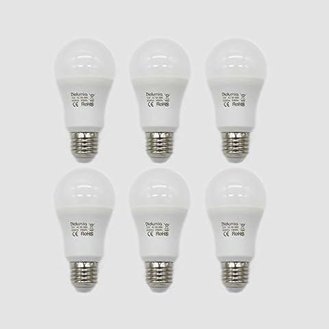 Diolumia - Lot de 6 Ampoules LED Standard E27 (Grosse Vis) - Consommation 12W - Equivalent 100W - Blanc Lumière du jour 5000K - 1055lm - Angle de Diffusion 270° - SMD2835*14 - Durée de vie 25 000h - IRC>80 - Sans Scintillement - AC85-265V [Classe énergétique A+]