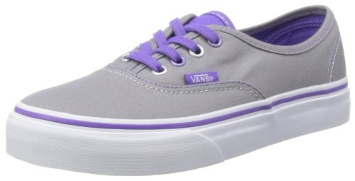 Kids Girls Vans Authentic Vrqz8nd Trainers Purple Glitter Gris (Popeyelets Frt)