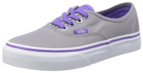 Vans - K Authentic, Scarpe sportive - Skateboard Unisex – Bambini Grigio (Twill & Gingham/Cornstalk/Black)