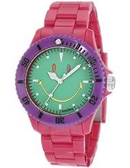 Smiley Happy Time Unisex-Armbanduhr Analog rosa bunt WGS-CBRGV01
