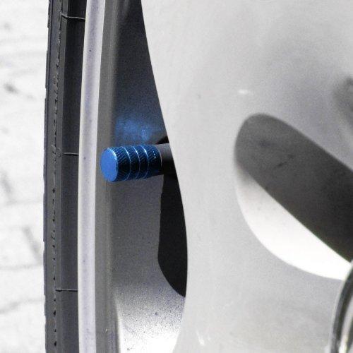 R SODIAL Packung mit 4 Schwarz Reifen Luftventilkappen Fit Alle Schrader-Ventil