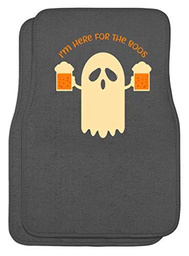 Here For The Boos - Mann, Männer, Junge, Jungen, Boy, Boys, Bier, Halloween, Gespenst - Automatten -Einheitsgröße-Mausgrau ()