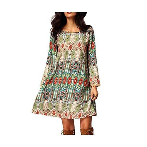2016 Fashion Women Clothes Dresses Summer Boho Long Sleeve Party Casual Clothing Beach Short Mini Dress Plus Big Size Multi L