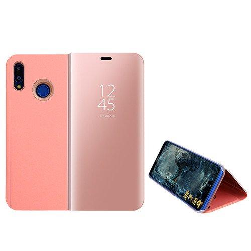 Custodia® Espejo Chapado Transparente View Stand Función Flip Funda para Xiaomi Mi MAX 3 (Oro Rosa)