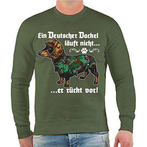 dog like a boss Männer und Herren Pullover EIN Deutscher Dackel läuft Nicht er rückt vor Größe S - 10XL