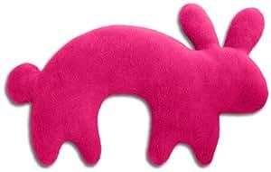 Leschi Nackenkissen   36698   Der Hase Paulo   stehend   groß (Für Reisen in Auto, Flugzeug, Bus und Bahn) Farbe: Flamingo / Mitternacht