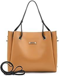 ECOSUSI 2 Pieces Extra Large Tote Shoulder Bag Satchel Bag Purse Crossbody Bucket Bag for Women