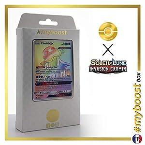 Zéroid-GX (Nihilego-GX) 114/111 Arcoíris Secreta - #myboost X Soleil & Lune 4 Invasion Carmin - Box de 10 Cartas Pokémon Francés