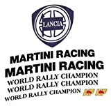 Pubblimais Aufkleber-Kit Sponsor Martini 6 für Lancia Delta HF Evo, Gr.A