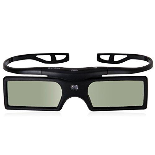 Gonbes 4X 3D Aktiv Brille fuer DLP-Link Projektor Beamer OPTOMA GT750 GT360 HD20 HD21 HD33 HD83 HD87 TX762 TW615 HD300X Benq Viewsonic Acer Dell Vivitek Sharp NEC