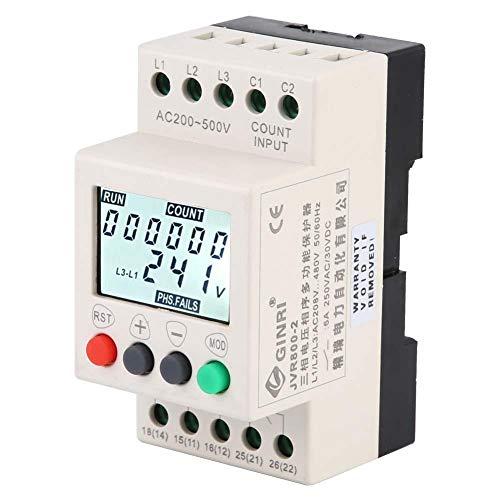 3-Phasen-Spannungsüberwachungsrelais, JVR800-2 mit Überspannungsschutz-Überwachungssequenz-Schutzrelais mit LCD-Anzeige