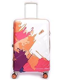 Skybags Mirage Orange Printed Hardsisded Suitcase
