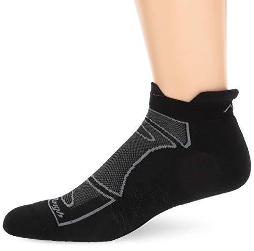 Darn Tough Herren Merino Wolle No-Show Light Cushion Athletic Socken Medium schwarz/grau (Socken Vermont Aus)