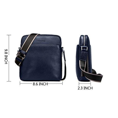 Padieoe Herren Umhängetasche Messenger Bag Aktentasche Schultertasche Arbeitstasche Blau(NB151031-4L) Blau